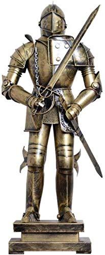 Escultura,Escultura De Estatua De Guerrero Romano Antiguo Soldado Medieval Artesanía Modelo Bar Ktv Decoración De Oficina H45Cm