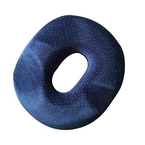 Generic Komfort Hämorriden Orthopädische Memory Foam Stuhlkissen Sitzkissen mit Waschbarer Bezug - Purplish Blau