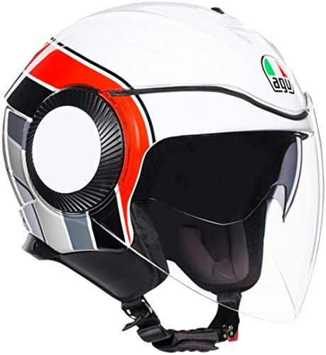 CASCO ORBYT AGV MULTI BRERA WHITE/GREY/RED XS