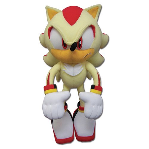 GE Animation Great Eastern GE-52631 Sonic The Hedgehog Super Shadow Stuffed Plush, 12 by GE Animation