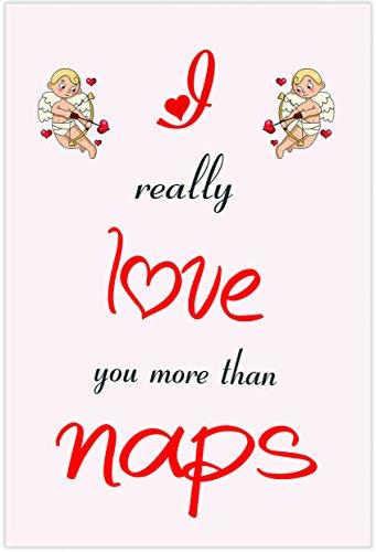 Ik hou van Naps Thema-kaart - Valentijnsdag/verjaardag/verjaardagskaart voor hem of haar
