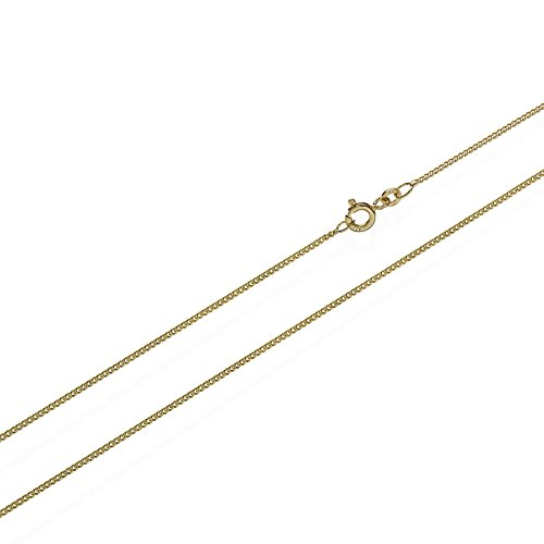 NKlaus 60cm cadena de bordillo 333 cadena de oro 1,6gr cadena de bordillo 0,8mm de ancho 1923 mujeres hombres