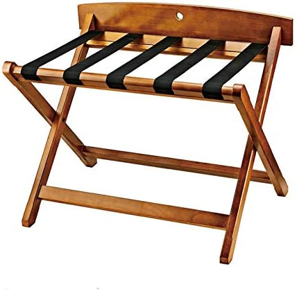 Free shipping Room Luggage Rack Hotel Solid 67% OFF of fixed price Folding Wood Luggag