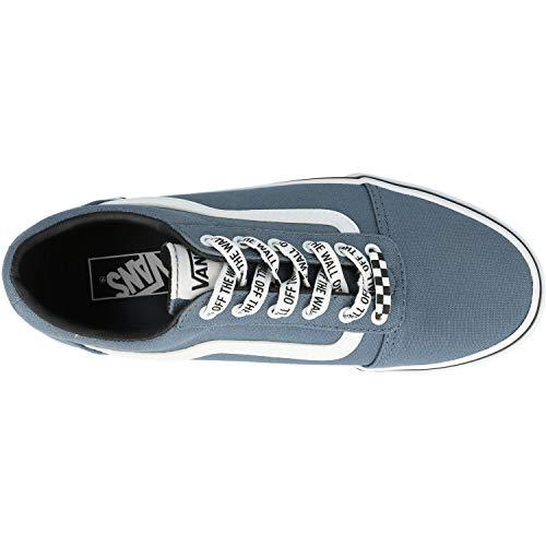 Vans Ward Canvas, Sneaker Unisex-Bambini, Blu ((Checker Lace) Blue Mirage/White Xxo), 34 EU