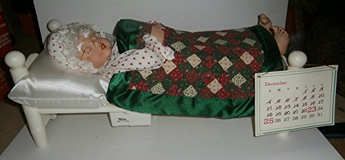 Vintage Telco Sleeping Mrs Santa Claus Snoring Whistling Figure Motionettes