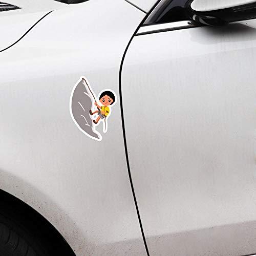 GWCU Car sticker 13.8x9.9CM Sports Rock Climbing Car Stickers Accessories