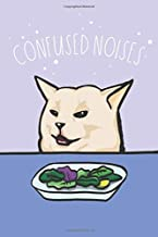 """Confused Noises: Math and Science Composition Notebook for Students – Woman Yelling At A Cat Meme – Confused Cat Meme - 15.2cm x 22.9cm (6"""" x 9"""") -100 ... Quad Ruled 5 squares per inch – Glossy Cover"""