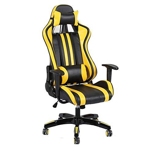 XuZeLii Gaming Chair Metallrahmen Einstellbare Winkel Hochlehnigen Leder Bürostuhl Renn Executive-Computer-Schreibtisch Geeignet zum Fernsehen (Color : Picture Color, Size : 70X70X127CM)
