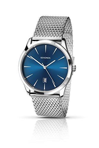 SEKONDA 1065.27 - Reloj de Cuarzo para Hombres, Color Plata
