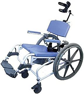 Tilt Shower Rehab Commode Bath Toilet Transport Chair with 24