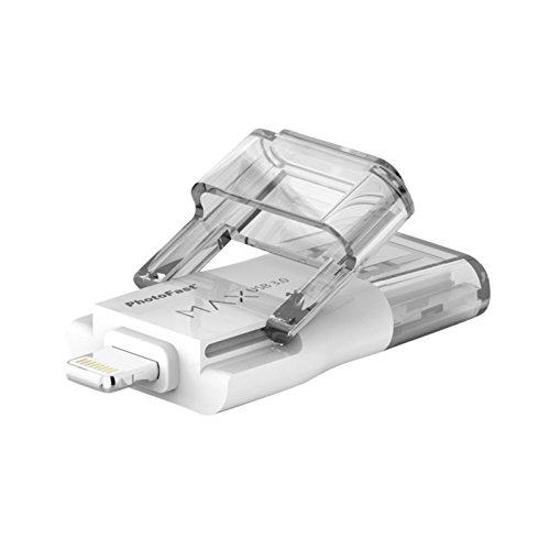 Photofast i-FlashDrive MAX Gen2 Speichermedium, USB 3.0 zu Lightning, für superschnelle Datenübertragung und –verwaltung von Apple Geräten mit Lightning Connector, 128GB