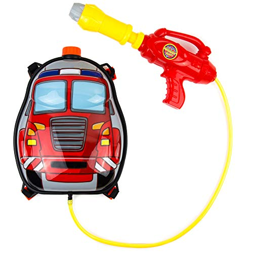 Toysery Fire Truck Backpack Water Gun | Super Cute Design | Fun Time Vacation | Safe and Durable | Great for Outdoor Play | Ultimate Fun for Kids | Ideal for Gift