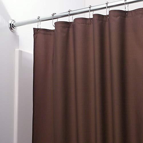 Vinyl Shower Curtain Liner with Rustproof Metal Grommets for Bathroom Showers and Bathtubs – Waterproof Shower Liner – Chocolate, 70 x 72