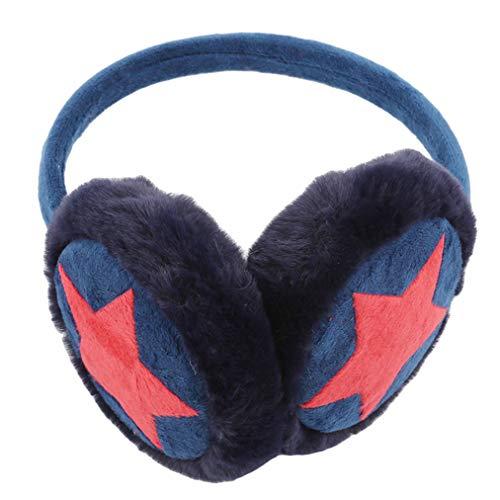 Sevenfly Frauen Winter Ohrenschützer Einstellbare Full Surround Faux Fell Ohrenwärmer Protector, blaue Farbe