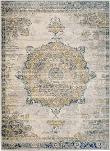 Rug Challenge the lowest price and Decor Mad 410 Traditional Medallion Minneapolis Mall Grey Gold Distressed