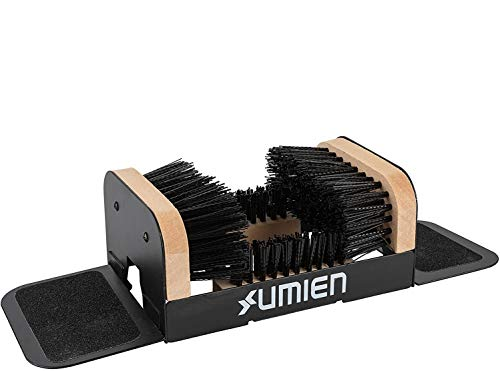Umien Boot Scraper Brush Outdoor - Deluxe Folding Boot Cleaner Scrubber with Folding Side Flaps Indoor and Outdoor use - Includes Extra Shoe Brush - Easy to use for Children & Adults