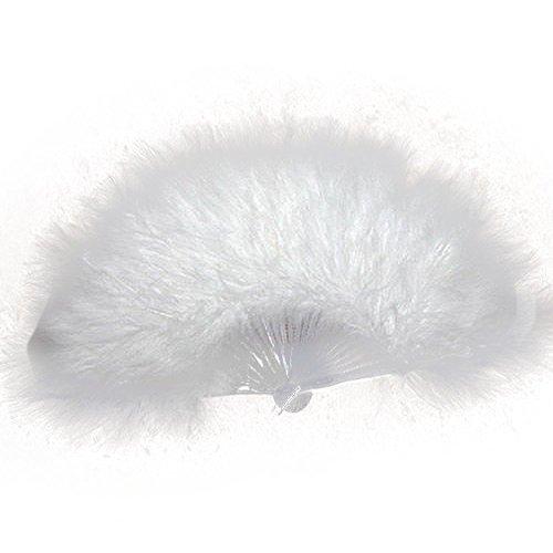 SODIAL (R) Donna ventaglio della piuma 1920 MOULIN ROUGE BURLESQUE Costume ACCESSORIO - Bianco