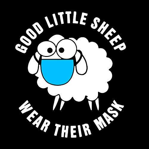 Good Little Sheep Wear Their Mask Decal diecut 6' x 4.5' Coronavirus Covid-19 Covid19