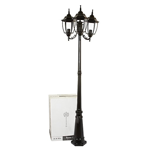 Lámpara de Exterior, color Negro Tecnolite PFT-6004-3/N