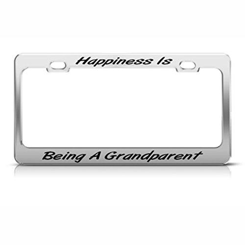 Happy Grandparent Cadre étiquette en métal inoxydable support de plaque d'immatriculation