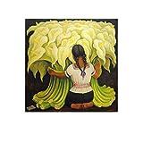 Diego Rivera Poster mit Blumenverkäufer Mädchen mit