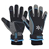 Waterproof Insulated Work Gloves, Thermal Winter Gloves for Men Women Touch Screen, Warm Ski Snowboard Cold Weather Gloves (Large, Blue)