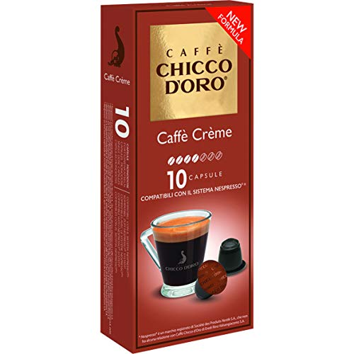 Chiccodoro Kapseln Caffè Creme 1 x 10 Kapseln / Kompatibel Nespresso, 55 g