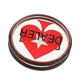 Backbayia Dealer Poker Button aus Acryl Händlerchips für Texas Holdem, Roulette, Turniere -