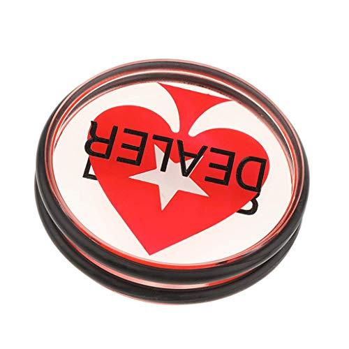 Backbayia Dealer Poker Button aus Acryl Händlerchips für Texas Holdem, Roulette, Turniere