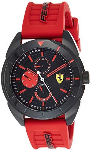 Ferrari Orologio Multi-quadrante Quarzo Uomo con Cinturino in Gomma 830576