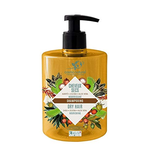 COSMO NATUREL Shampooing cheveux secs karité, jojoba & aloe 500Ml Bio -