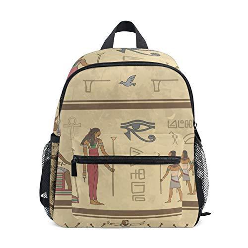 Geroglifici Egizi Arte Zaino per Asilo Nido Prescolare Bambini Studente Bookbag Zainetti per Viaggio Ragazze Ragazzi 2-7 Anni Capretto