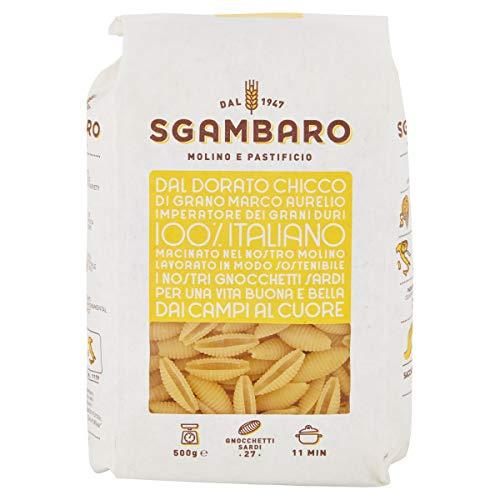 Pasta Sgambaro - Gnocchetti Sardi N. 27 - 100% grano duro italiano - 500 gr