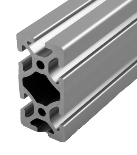"Faztek 15QE1530 Aluminum 6063-16 T-Slotted Heavy Extrusion with Clear Anodize Finish, 48"" Length x 1-1/2"" Width x 3"" Height"