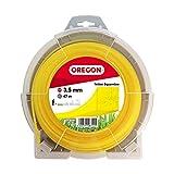 Oregon 69-426-Y Rasentrimmerfaden / Draht für Rasentrimmer und Freischneider, 3,5 mm x 35 m, Gelb