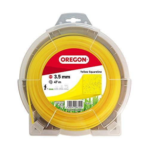 Oregon 69-426-Y Gelber Mähfaden mit quadratischem Querschnitt, 3,5 mm, 35 m
