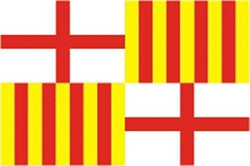 U24 Aufkleber Barcelona Stadt Flagge Fahne 8 x 5 cm Autoaufkleber Sticker