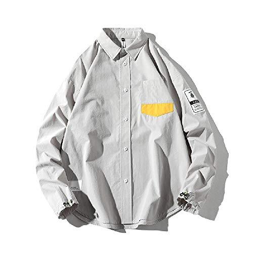 Preisvergleich Produktbild Nobrand Herren Frühlingsshirt,  langärmelig,  lockere Farbe,  lässiger Kordelzug Gr. X-Large,  grau