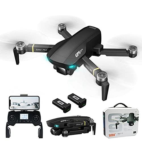 XIAOKEKE GPS 6K Camera Drone con Motore Brushless, 5G WiFi FPV Drone con Funzione Follow Me, Drone Professionale per Adulti, 60 Min Volo con 2 Batterie