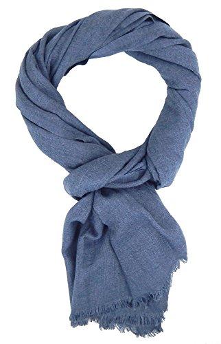 Ella Jonte Écharpes foulard d'homme hiver élégant et tendance de la dernière collection by Casual-style bleu gris coton
