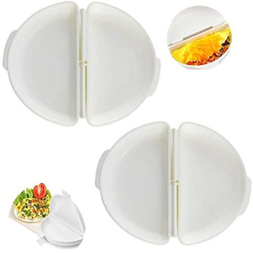 Mikrowellen Omelett Maker Ei Omelette Maker Tablett Eierkocher Rührei Maker Eierkocher Spiegelei pochierte Eier für Mikrowelle, Progressiv, mikrowellengeeignet, Omelett-Maker Küchenutensil 2PCS