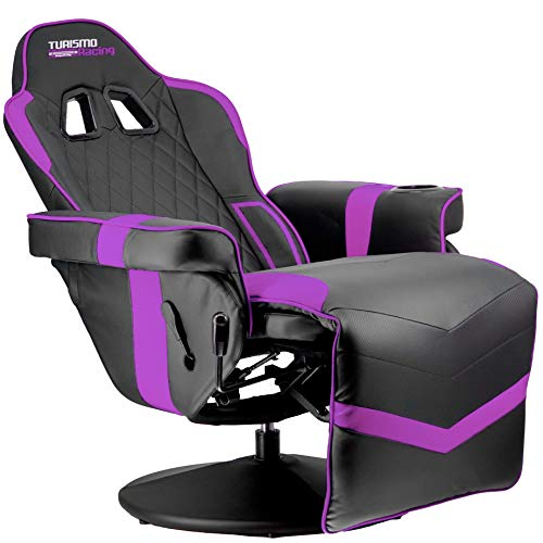 Turismo Racing Stanza Gaming Recliner - Ultimate Reclining Chair for Playstation 5 and Xbox Gaming - Purple