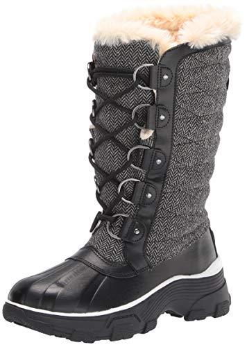 JBU by Jambu Women's Lorina Waterproof Winter Boot, Black Herringbone, 7.5