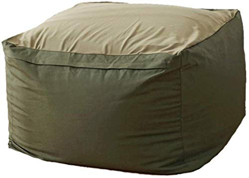 LHY- Simple Non-Impression Bean Bag Loisirs Chambre Canapé Chaise Chambre Salon Lazy Bean Bag Tatami Lavable Simple Bean Bag Doux (Color : Army Green)