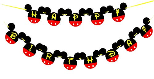 Mickey Mouse Birthday Banner   Mickey mouse Birthday Decorations   Happy Birthday Banner   Mickey mouse birthday   Mickey Mouse Party Supplies   Disney 1st birthday   Card Stock Banner #CARD_BAN_2