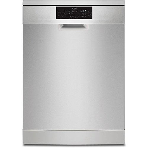 AEG FFE83700PM Freestanding Dishwasher with Airdry Technology, 15 place settings, 8 Programmes, Stainless Steel