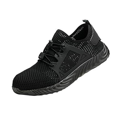 gazechimp Chaussure d'Homme Running Baskets Chaussures Outdoor Running Gym Fitness Sport Sneakers - Noir 9.5