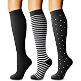 CHARMKING Compression Socks for Women & Men Circulation (3 Pairs) 15-20 mmHg is Best Athletic for...