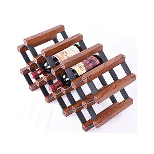 Casier À Vin En Bois Massif En Bois Vin Salon Décoration Européen Cabinet Restaurant Rack Peut Mettre 14 Bouteilles De Vin Rouge