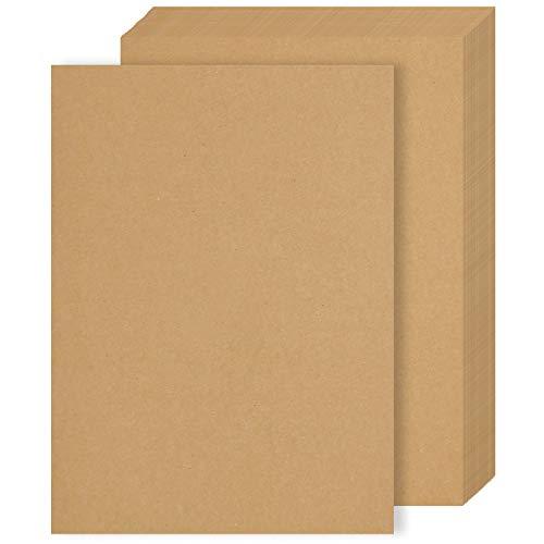 50 Hojas De Papel Kraft A4, Papel Marrón Grueso de 260 g/m², Cartulina Kraft Marrón Imprimible para Envolver Regalos, Hacer Minibolsas, Bocetos, Manualidades